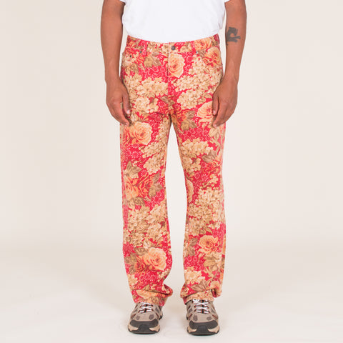 "Supreme Washed Floral Denim (34"" - 36"")"
