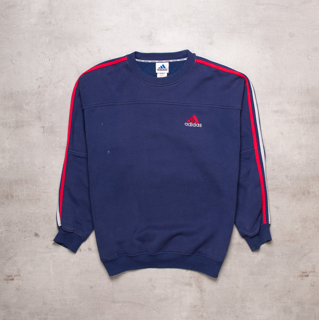 90s Adidas Pocket Spell Out Sweat (L)