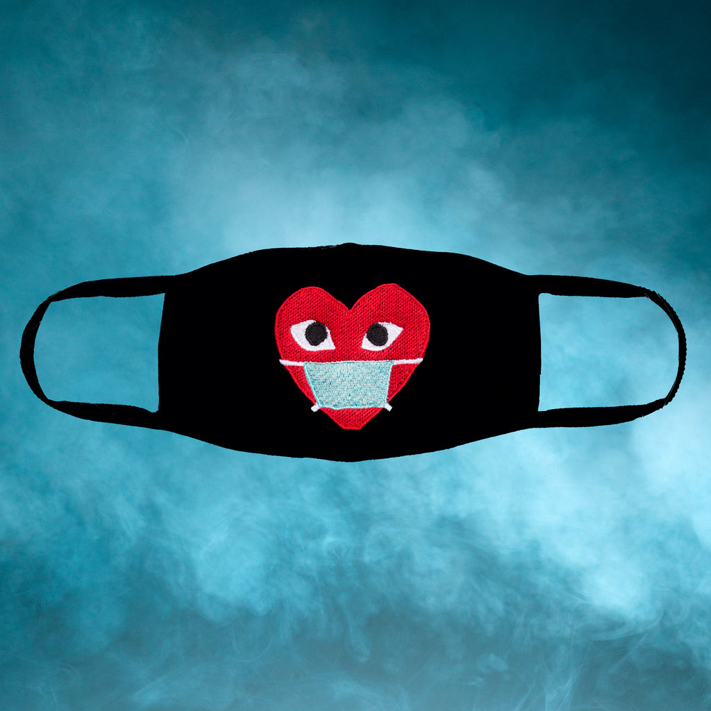 Heart Embroidered Face Mask
