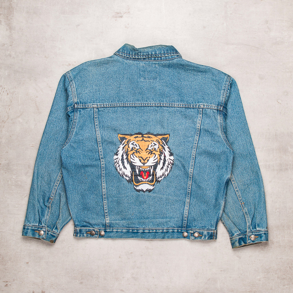 Vintage Embroidered Denim Jacket (XS)