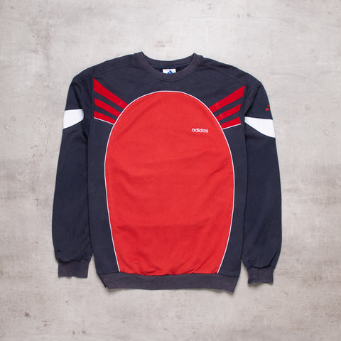 90s Adidas Colour Block Sweat (L)