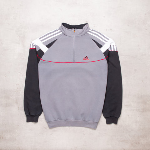 Vintage Adidas Colour Block Quarter Zip (M)