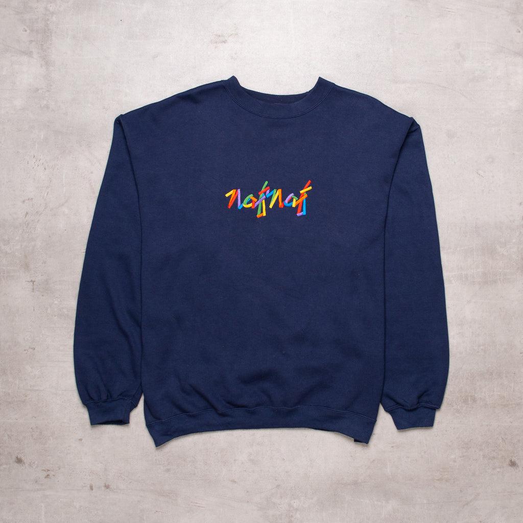 Vintage Naf Naf Spell Out Sweat (L)