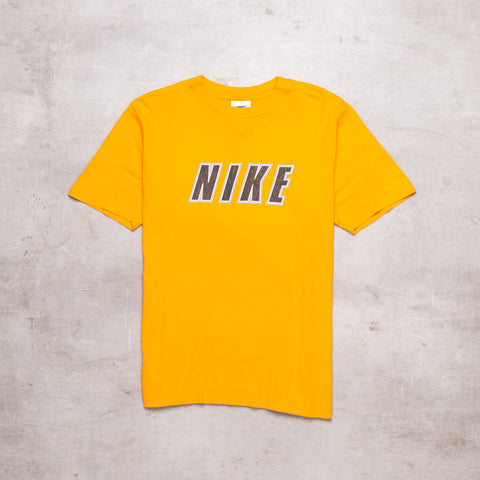 90s Nike Orange Spell Out Tee (S/M)