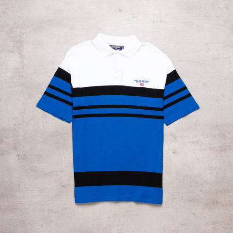 90s Polo Sport Striped Polo (M)