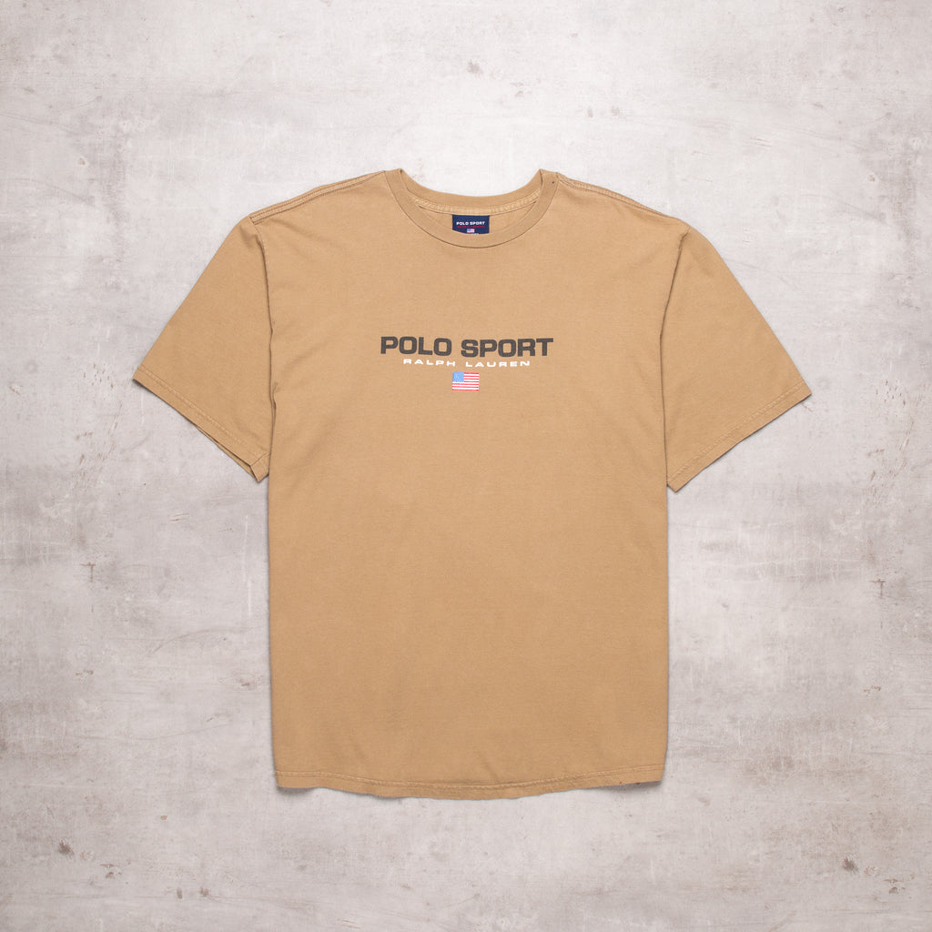 90s Polo Sport Camel Spell Out Tee (XL)