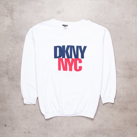 90s DKNY Spell Out Sweat (XL)