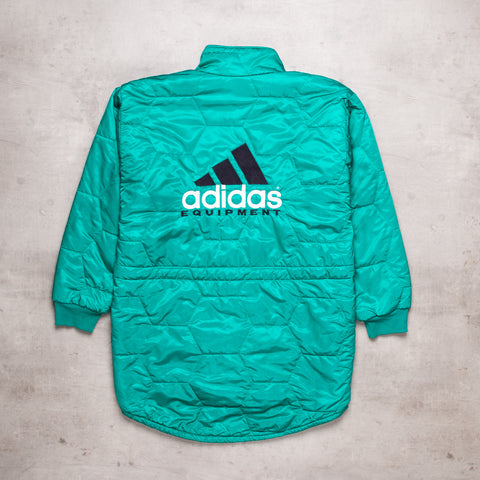 90s Adidas Equipment Spell Out Warm Up Coat (L)