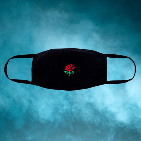 Rose Embroidered Face Mask