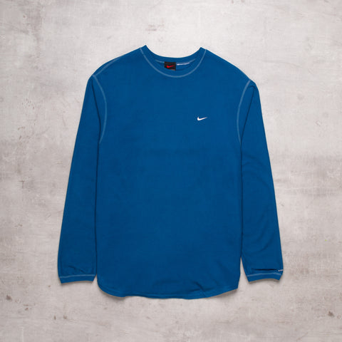 90s Nike Pocket Swoosh Blue Sweat (M)