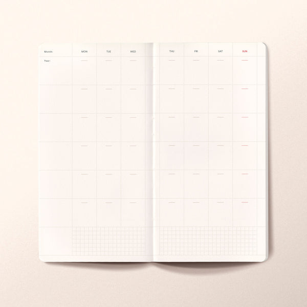 N.302 (Undated Weekly Planner) Slim / Traveler's notebook size [C]