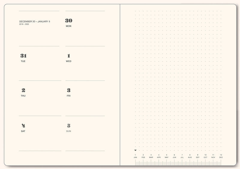 "A5 Size. Weekly Planner 2020 ""NUMBERS"" — Vol. 1 & 2"