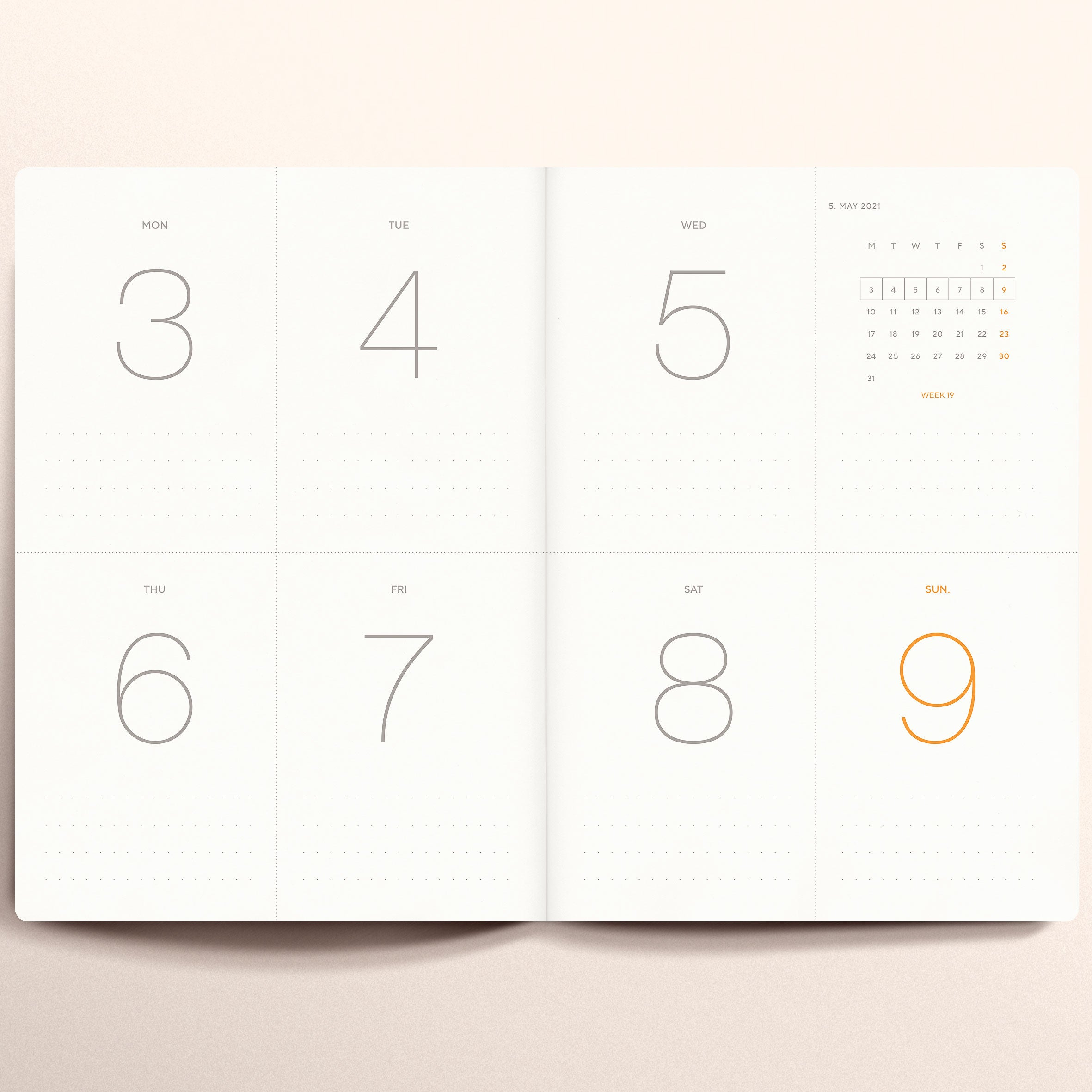 """Untitled 05"" by Anna Chask. 2021 Weekly planner A5 Size. 100% Cotton Paper"