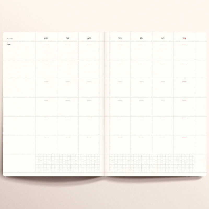 N.402 (Undated Weekly Planner) A5 size [G]
