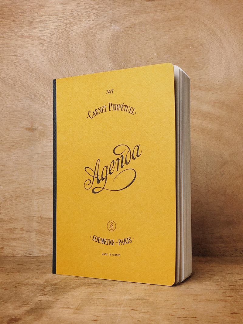 N.407 (Universal Planner). Mustard Color. A5 size