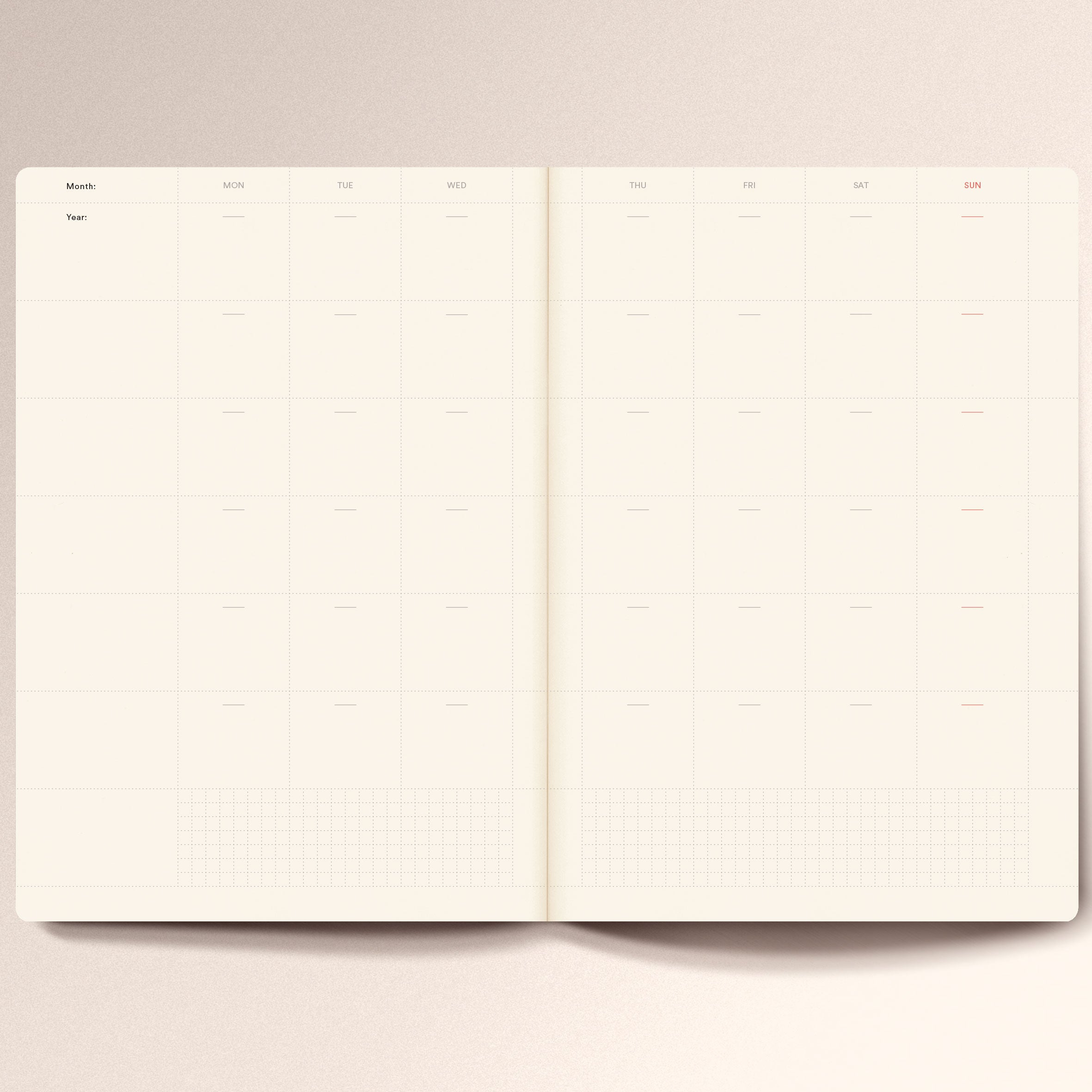 N.402 (Undated Weekly Planner). A5 size