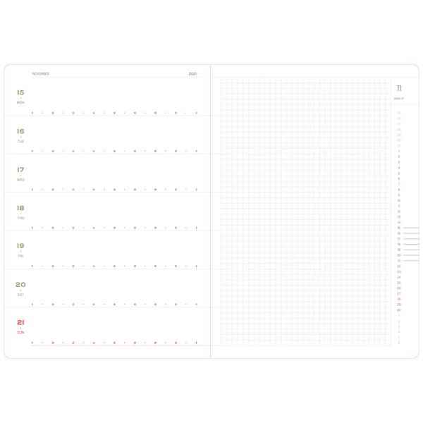 2021 Weekly planner A5 Size. Limited edition of 20