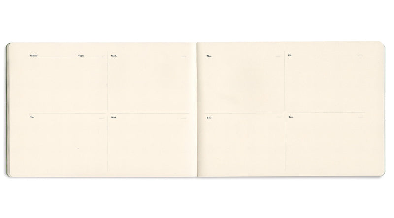 2x Sketch-Planners. Extraordinary Free-Dated Planer & Sketchbook. Set of 2