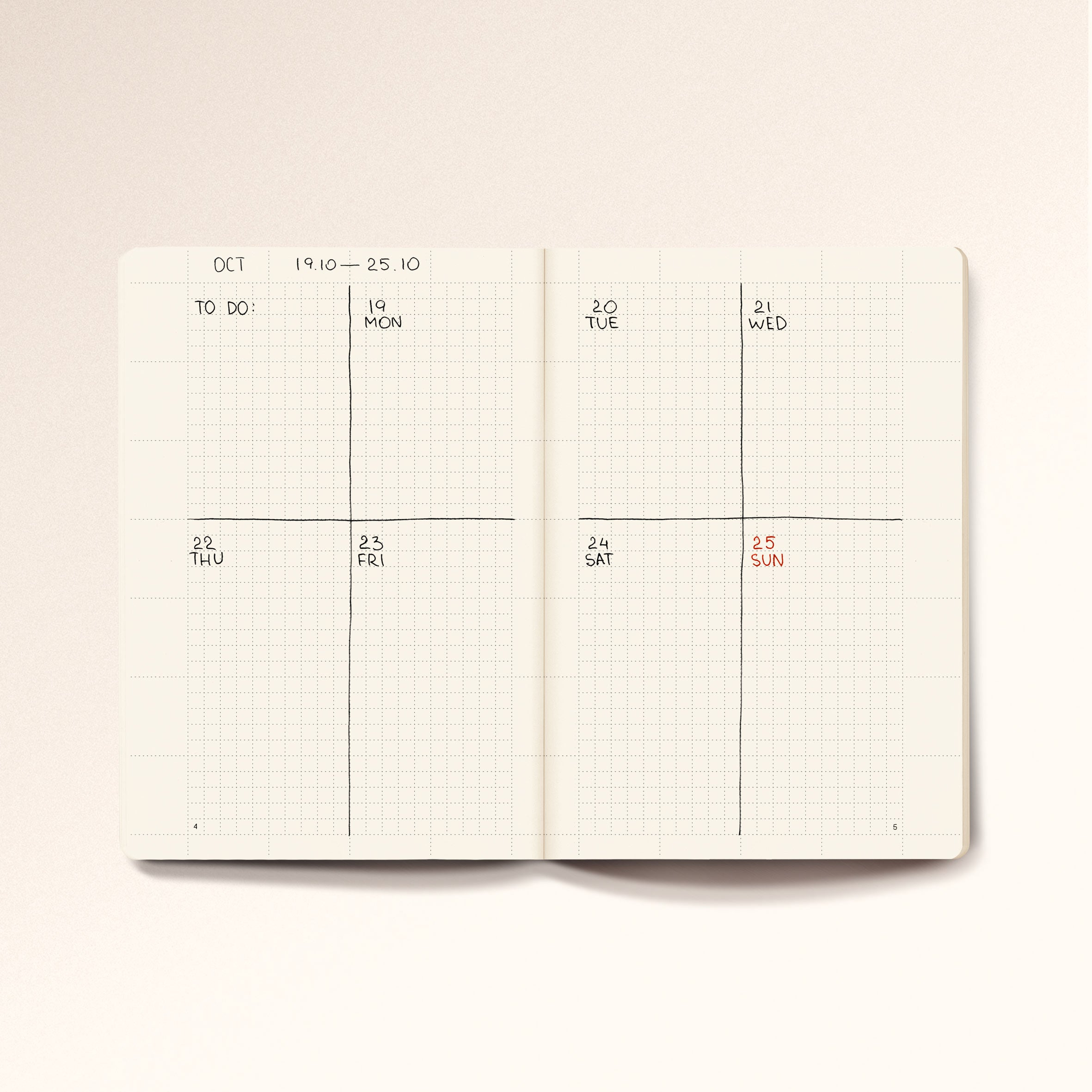 N.107 (Universal Planner). A6 size