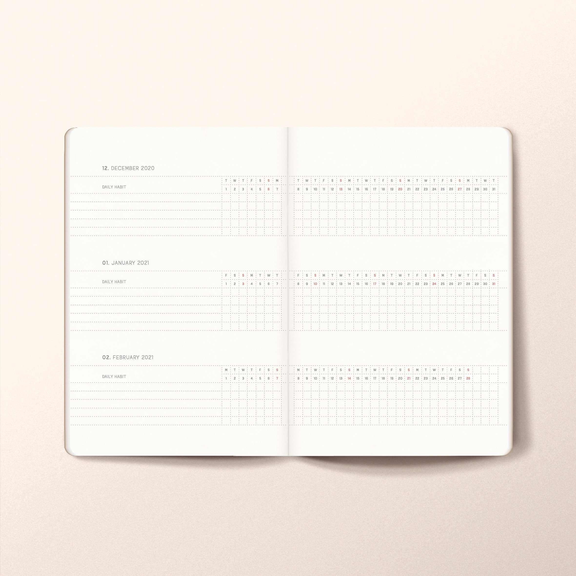 2021 Weekly planner A6-Pocket Size
