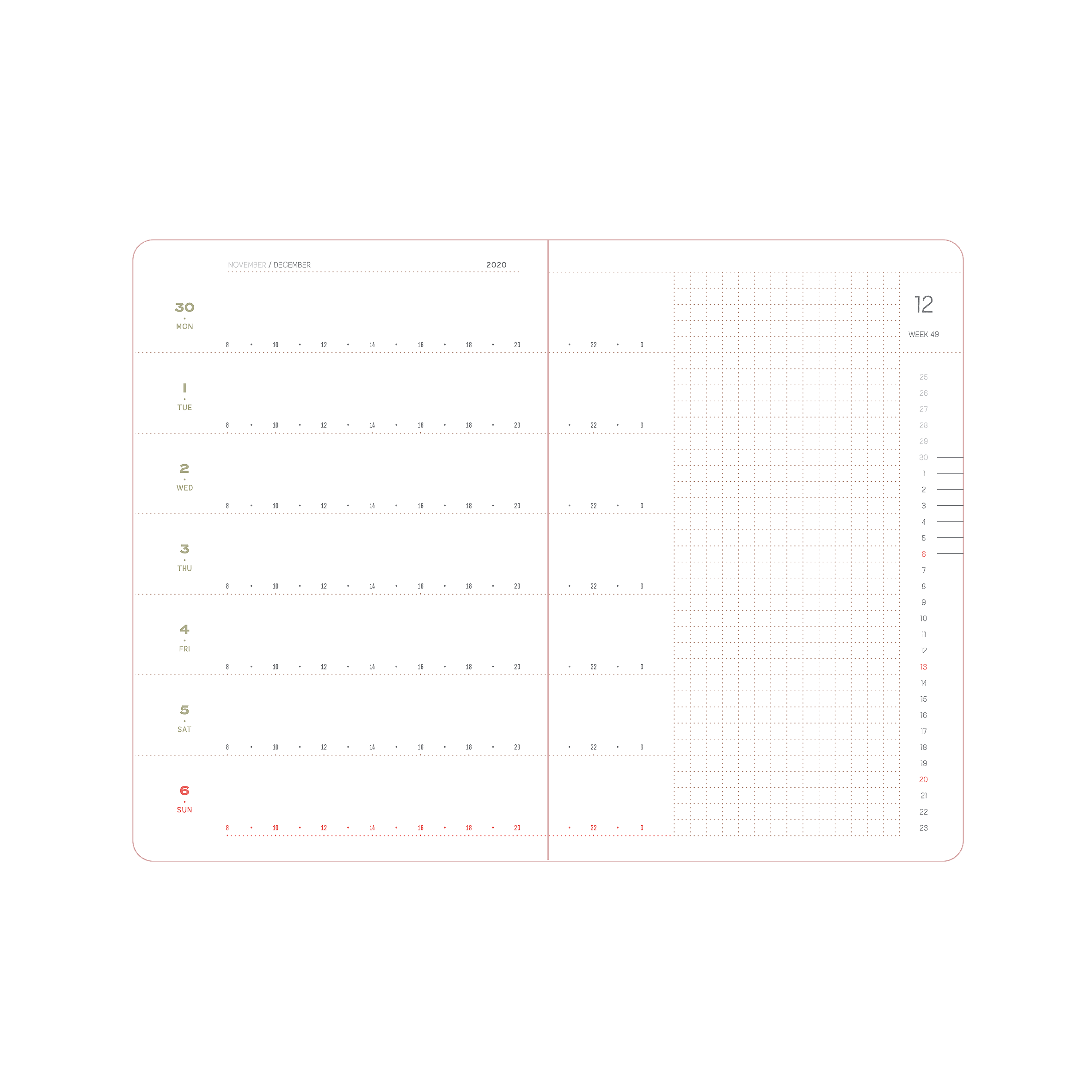 2021 Weekly planner A6-Pocket Size. Limited edition of 20