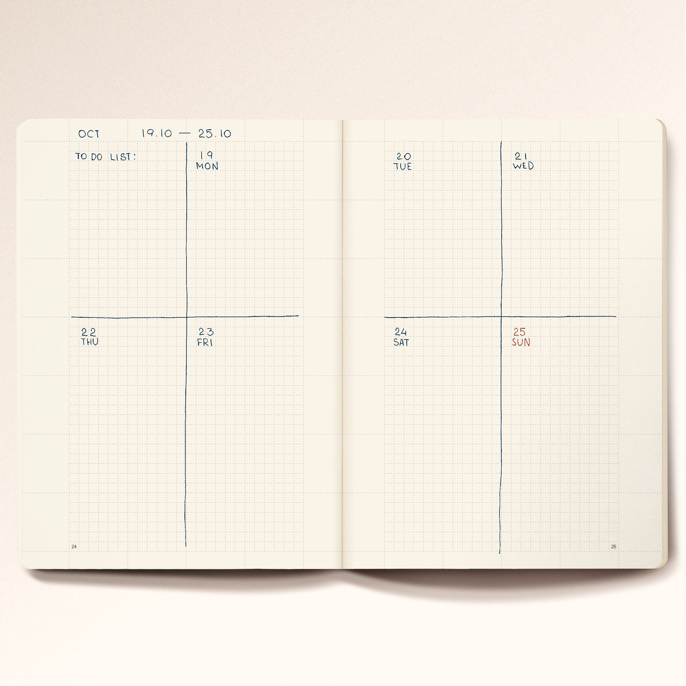 N.207 (Universal Planner). B6 size