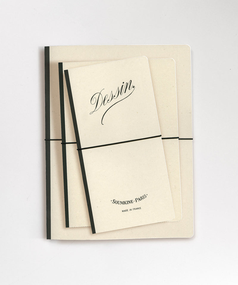 'Dessin' SLIM Size. Ultra-Premium Sketchbook. 100% Cotton paper. 11×21cm