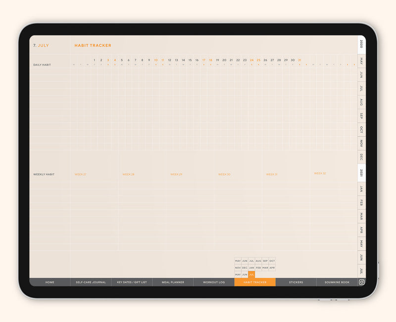 Tailored Version: 2020-21 One-Task Weekly Planner