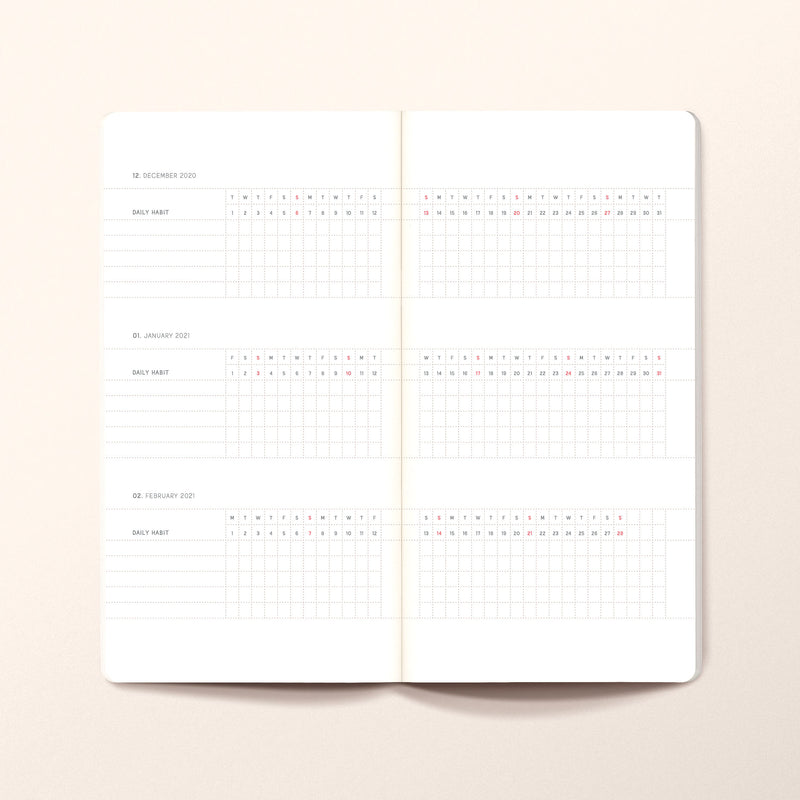 2021 Weekly planner SLIM TN Size. Limited edition of 20