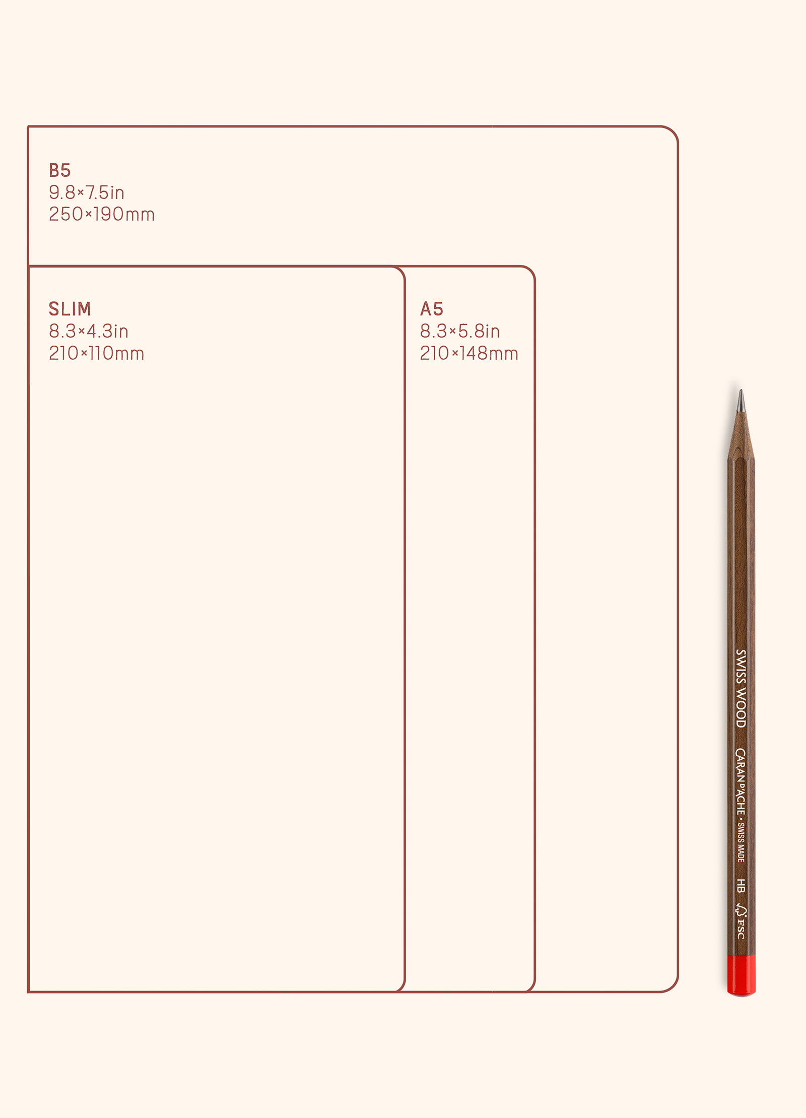 N.305 (DOTTED) Notebook. Slim / Traveler's notebook size [M]