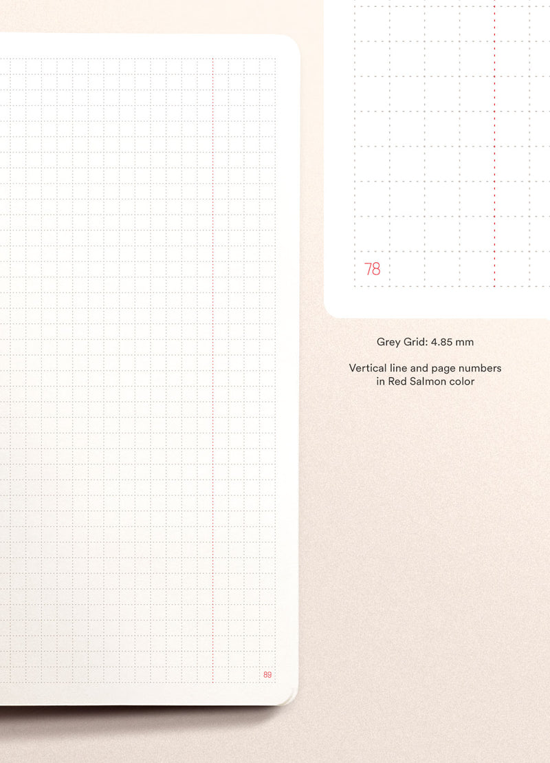 N.406 (GRID) Notebook. Slim / A5 size [G]