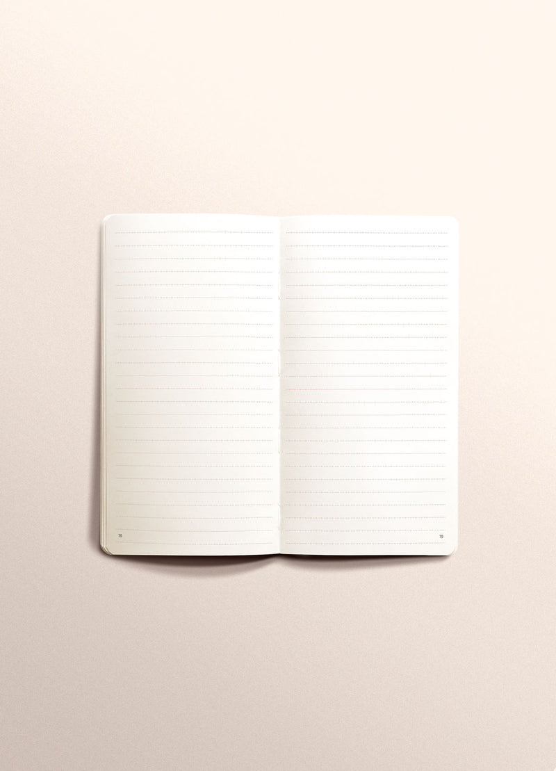 N.308 (RULED) Notebook. Slim / Traveler's notebook size [M]