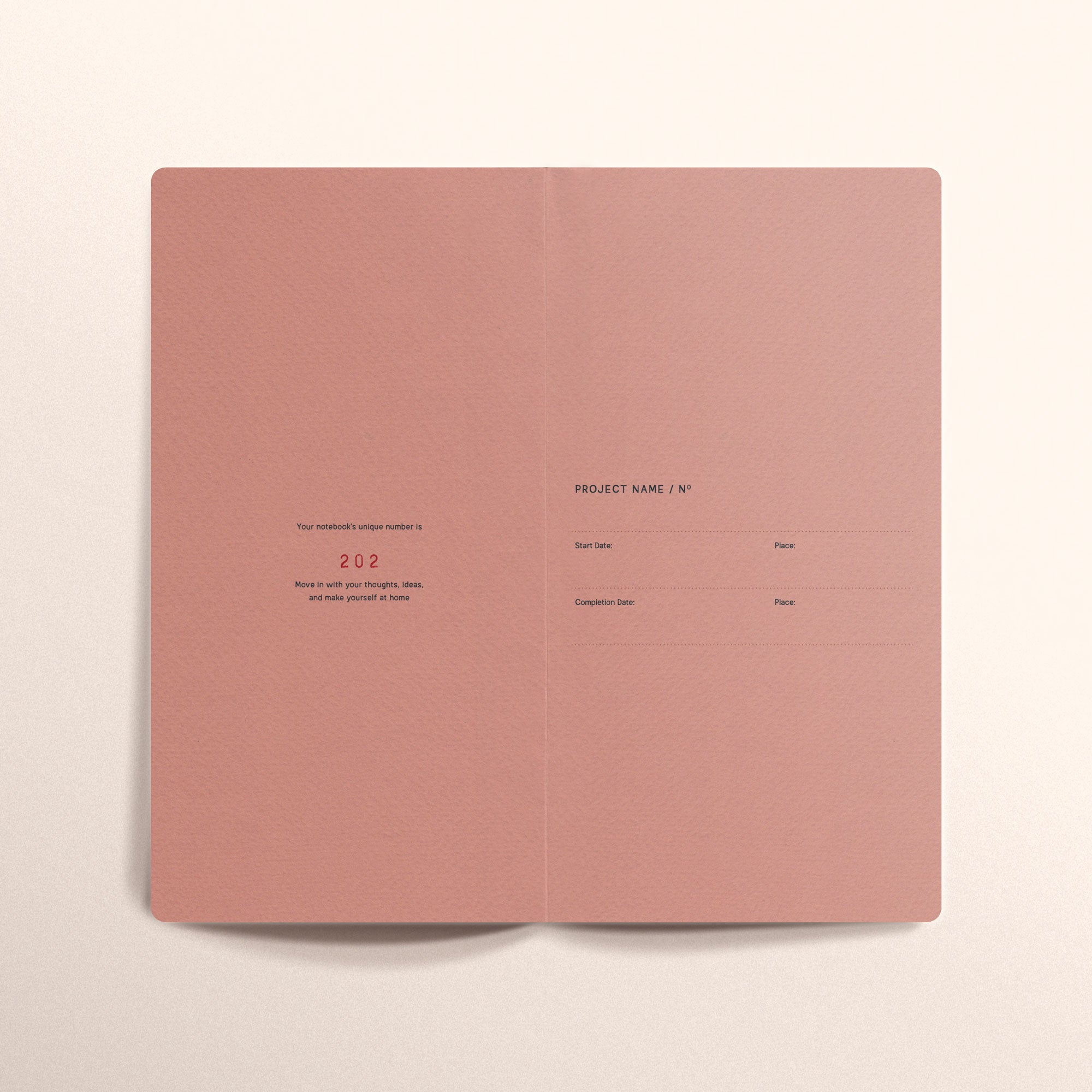 N.308 (RULED) Notebook. Slim / Traveler's notebook size [R]