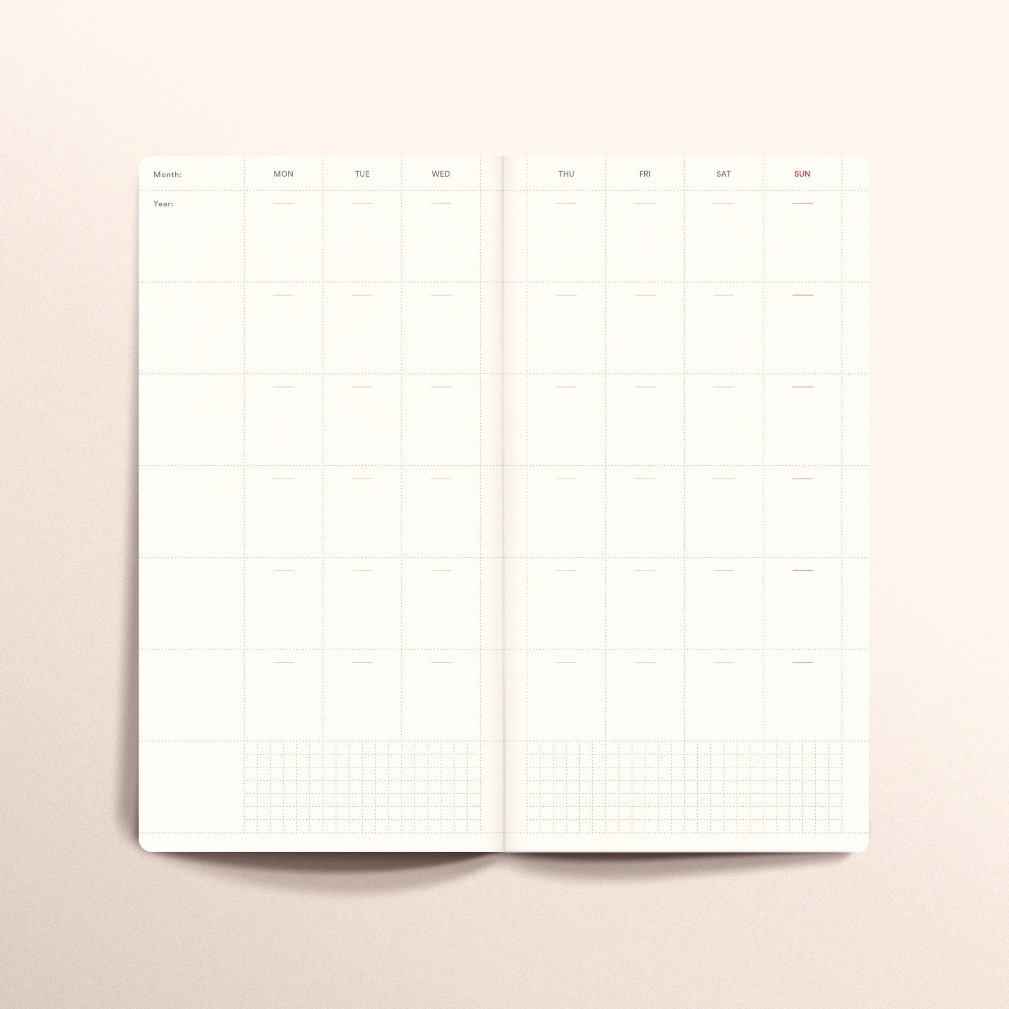 N.302 (Undated Weekly Planner) Slim / Traveler's notebook size [R]