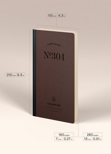 N.304 (PLAIN) Notebook. Slim / Traveler's notebook size