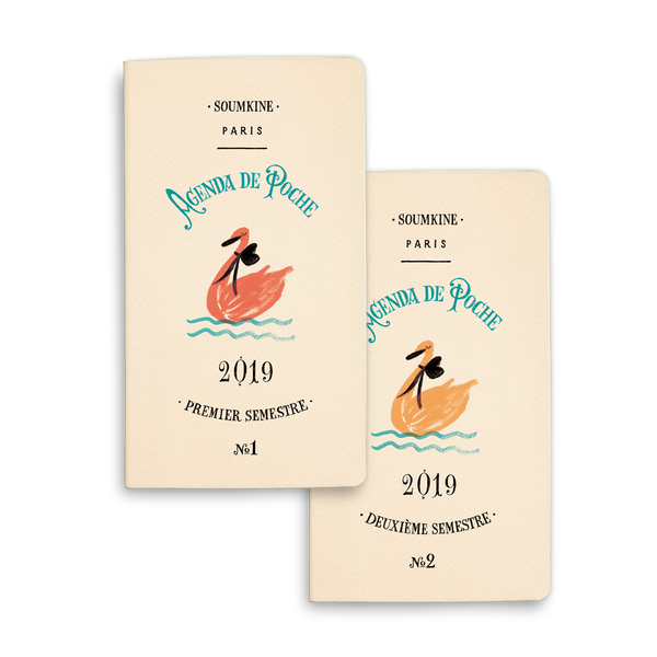 Weekly Planner – 2019 – SMALL – Set of 2 - Swan