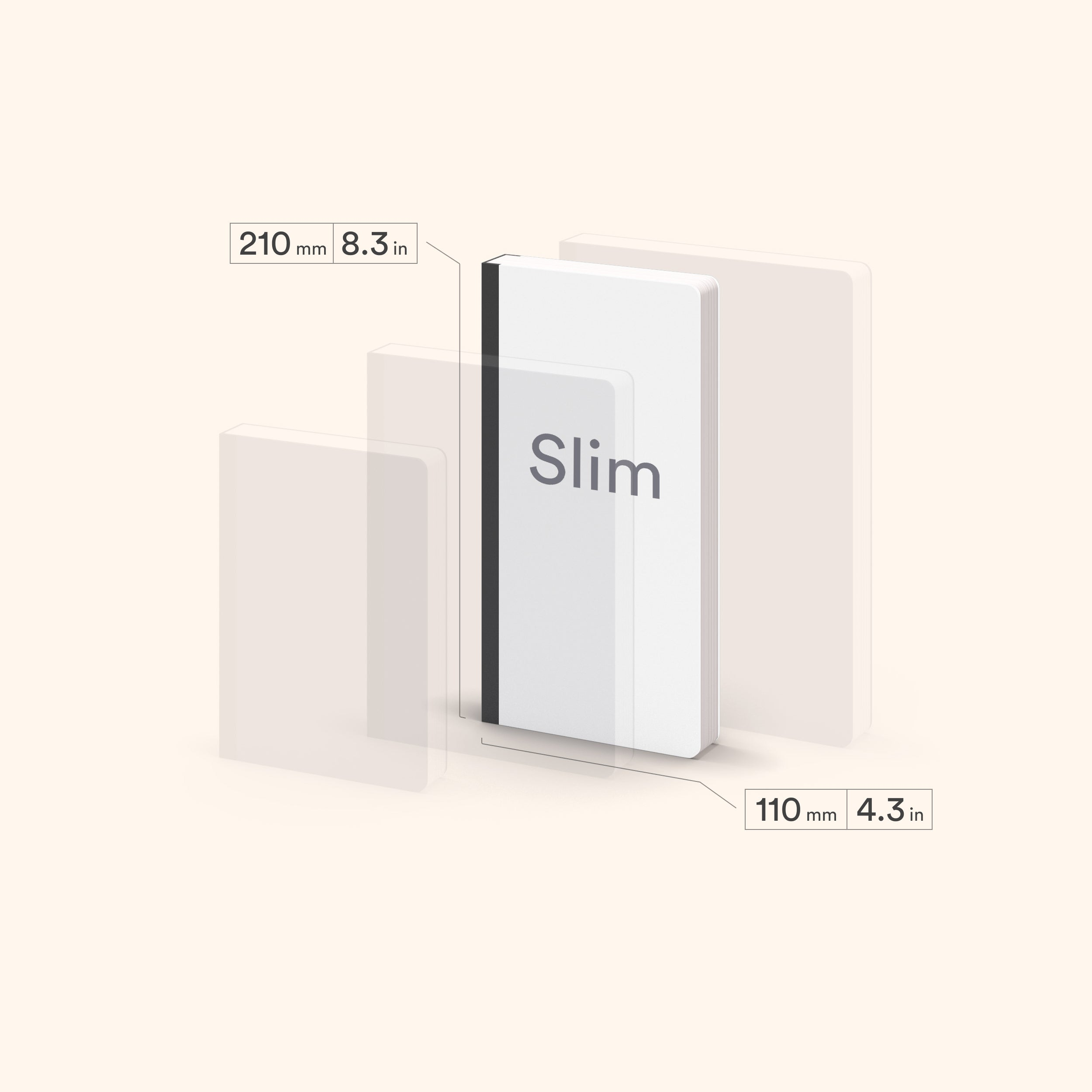 N.306 (GRID) Notebook. Slim / Traveler's notebook size