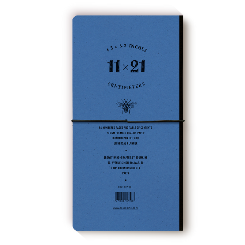 Universal 96 pages — Slim 11×21cm — Blue Gin Color
