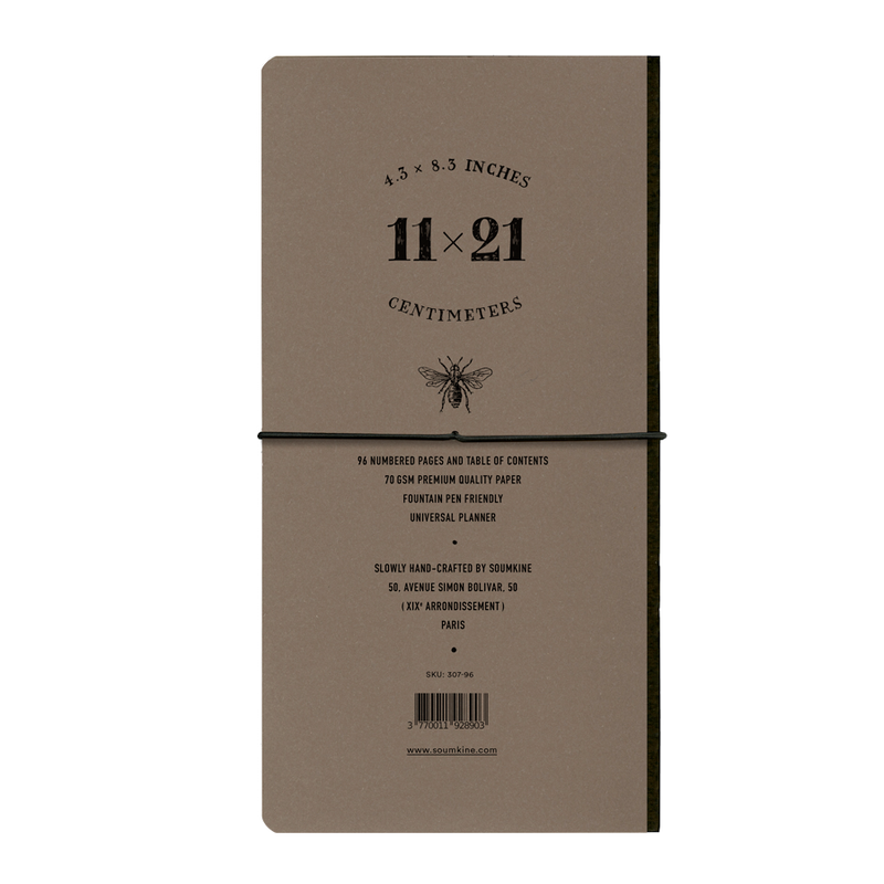 Universal 96 pages — Slim 11×21cm — Coffe Color