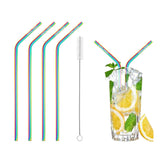 Rainbow Stainless Steel Drinking Straws (4 Pack)