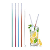 Two Tone Stainless Steel Drinking Straws (4 Pack)