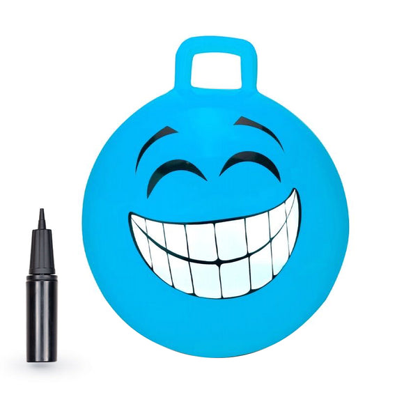 Blue Grinning Smile Hopper Ball - 18