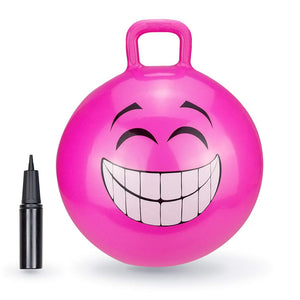 "Pink Grinning Smile Hopper Ball - 18"" or 20"""