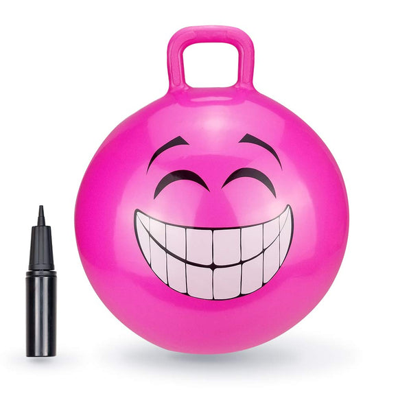 Pink Grinning Smile Hopper Ball - 18