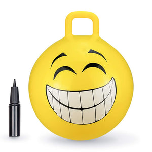 "Yellow Grinning Smile Hopper Ball - 18"" or 20"""