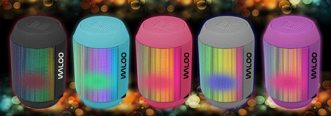 Waloo Portable LED Light Show Bluetooth Speaker