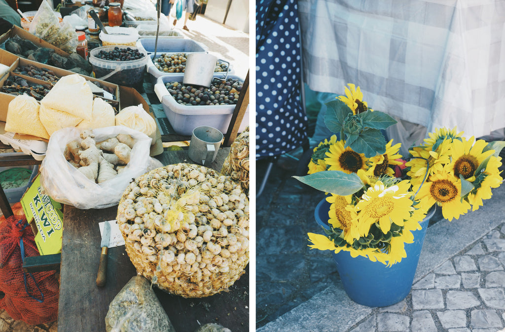 Portugal farmers market - sunflowers