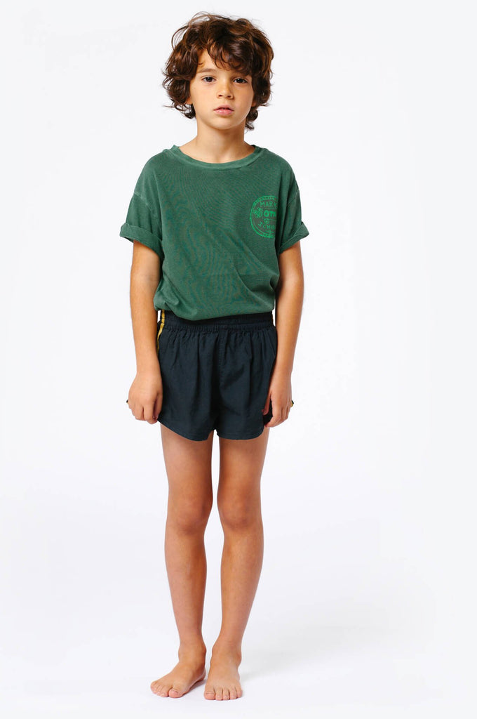Spider kids shorts black TAO logo