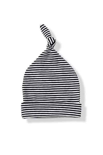 1 + in the family Fina Stripe Hat w/knot black