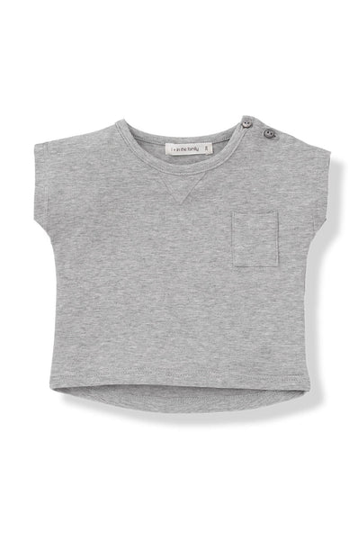 1 + in the family Nacho Jersey T-shirt grey